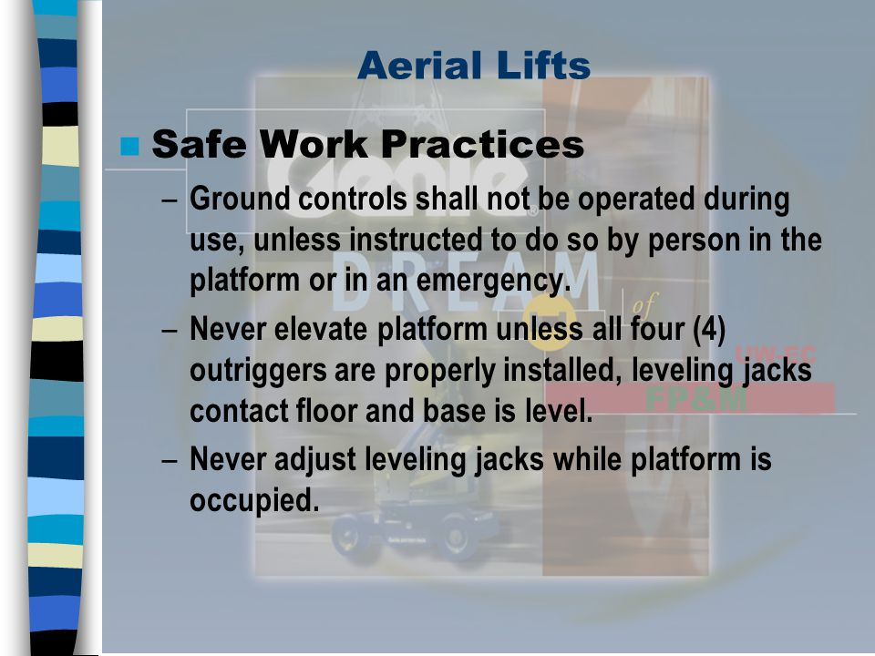 Aerial Lifts Safe Work Practices