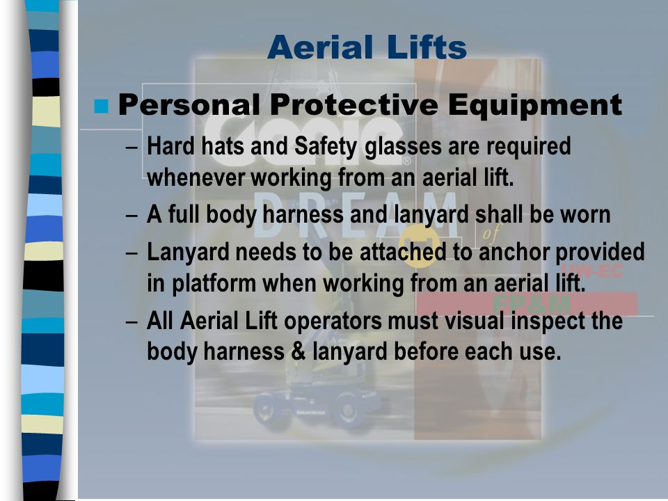 Aerial Lifts Personal Protective Equipment