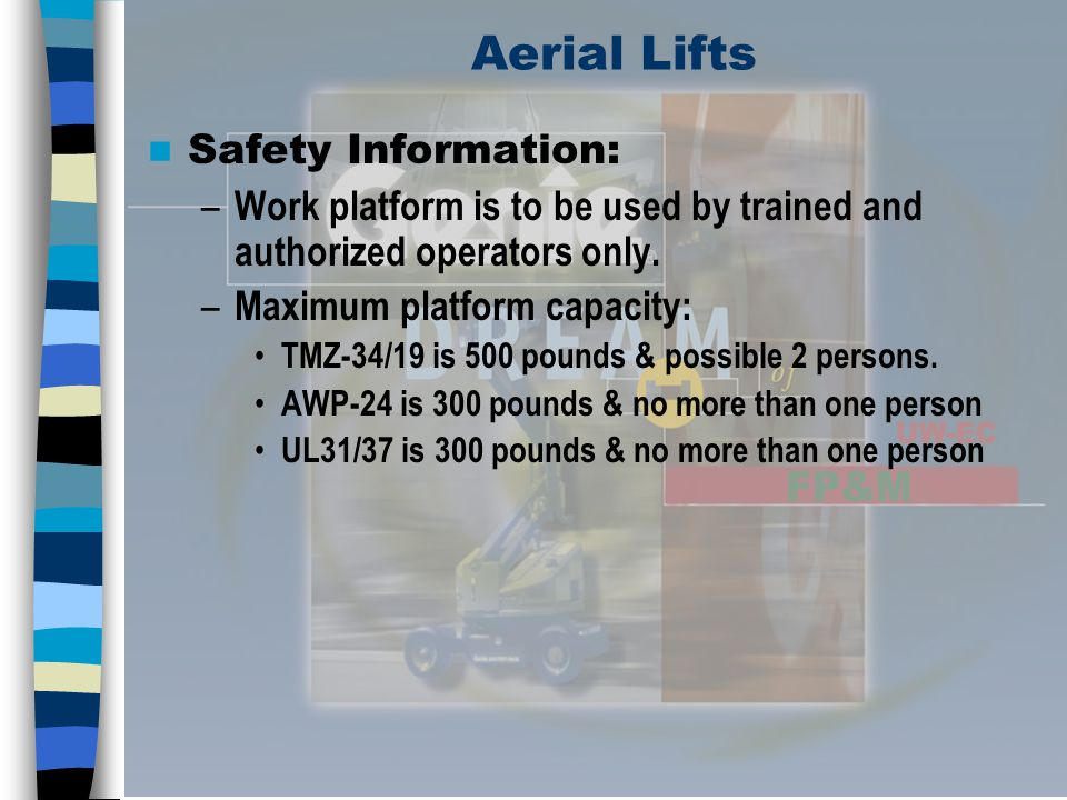Aerial Lifts Safety Information: