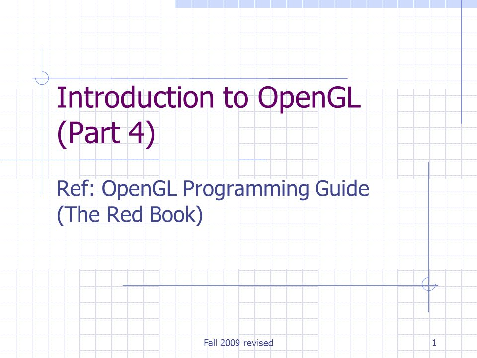 Introduction to OpenGL (Part 4)