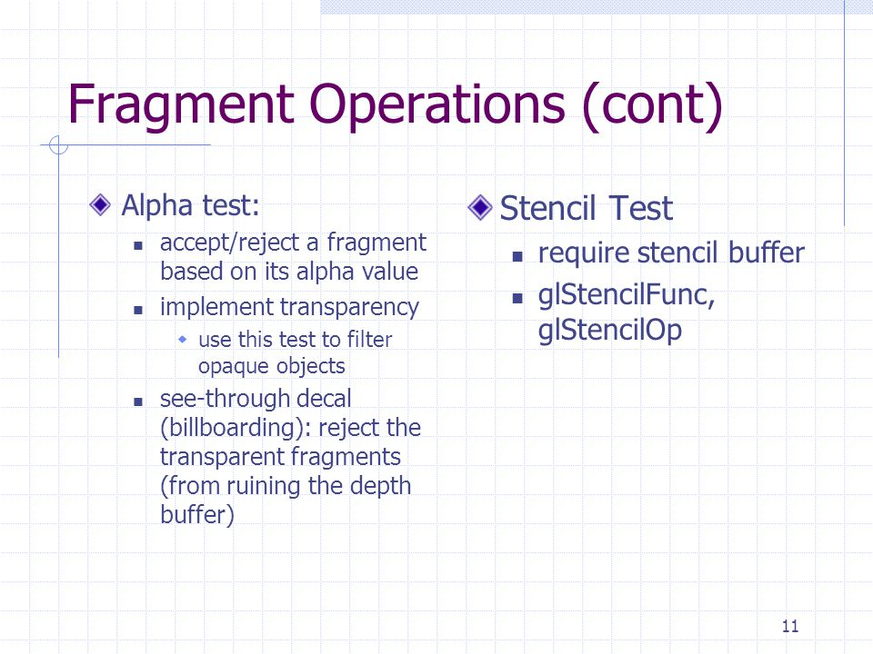 Fragment Operations (cont)