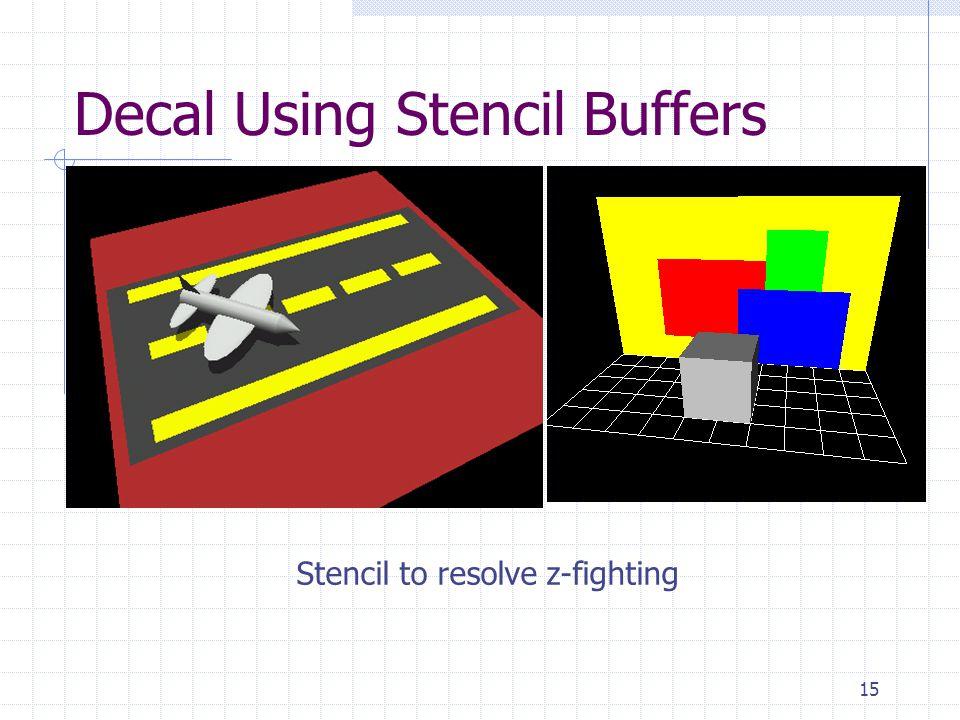 Decal Using Stencil Buffers