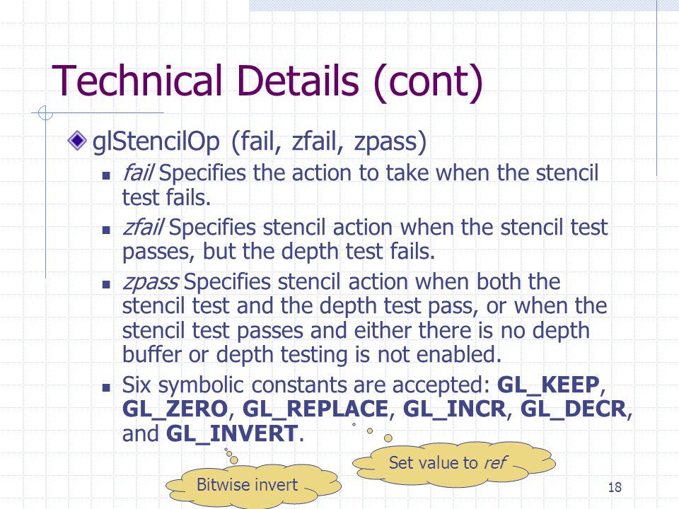 Technical Details (cont)