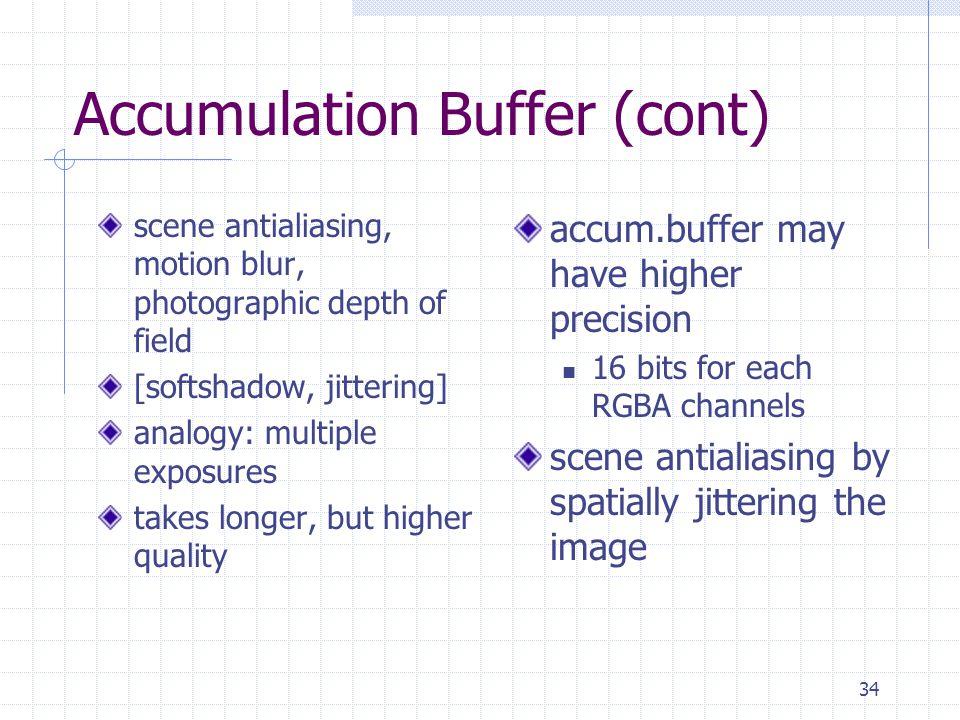 Accumulation Buffer (cont)