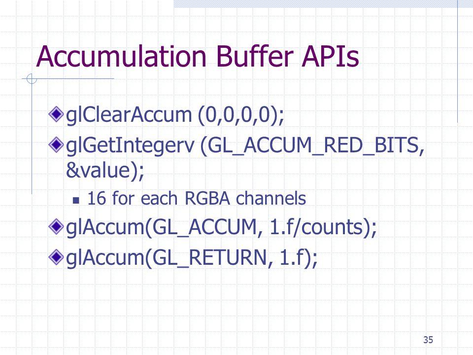 Accumulation Buffer APIs