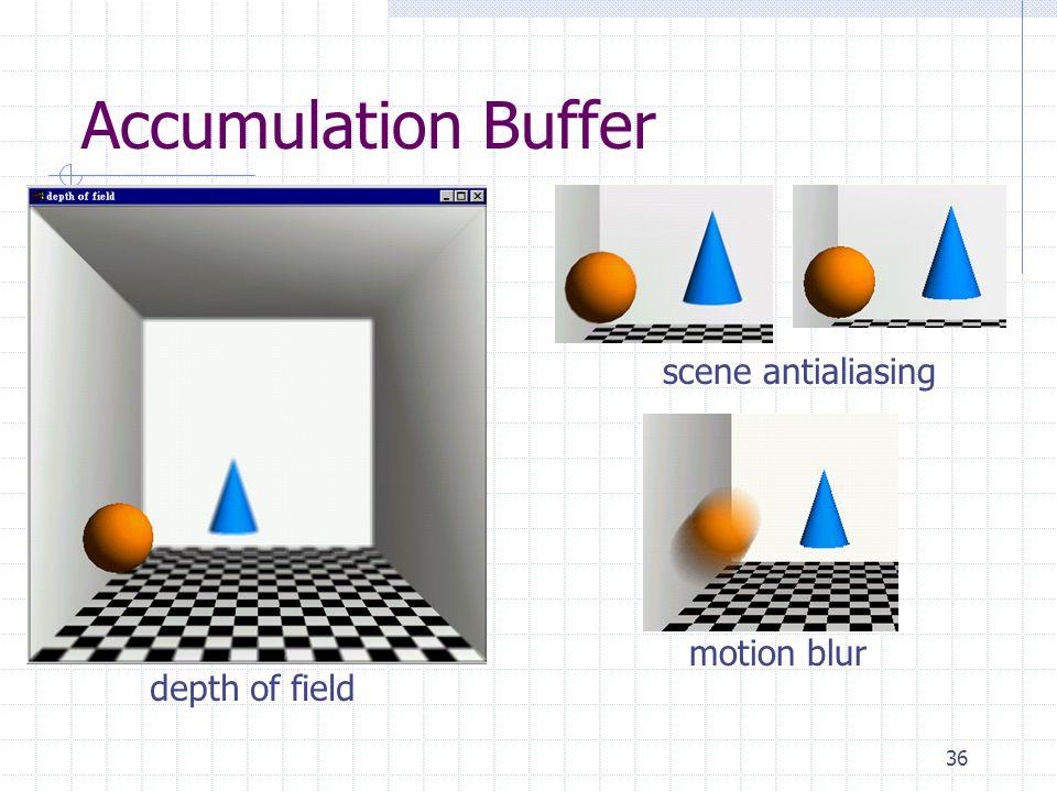 Accumulation Buffer scene antialiasing motion blur depth of field