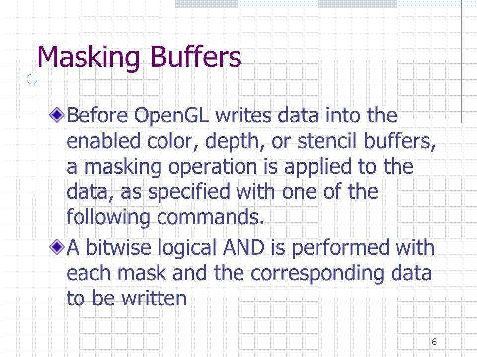 Masking Buffers