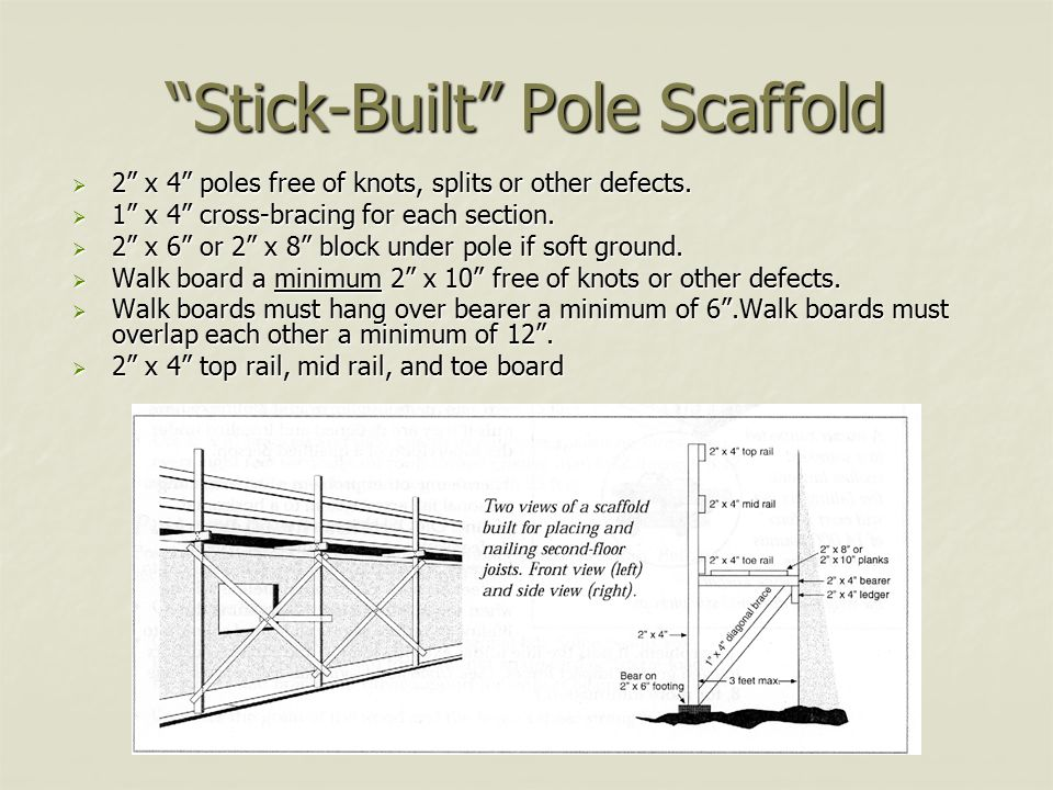 Stick-Built Pole Scaffold