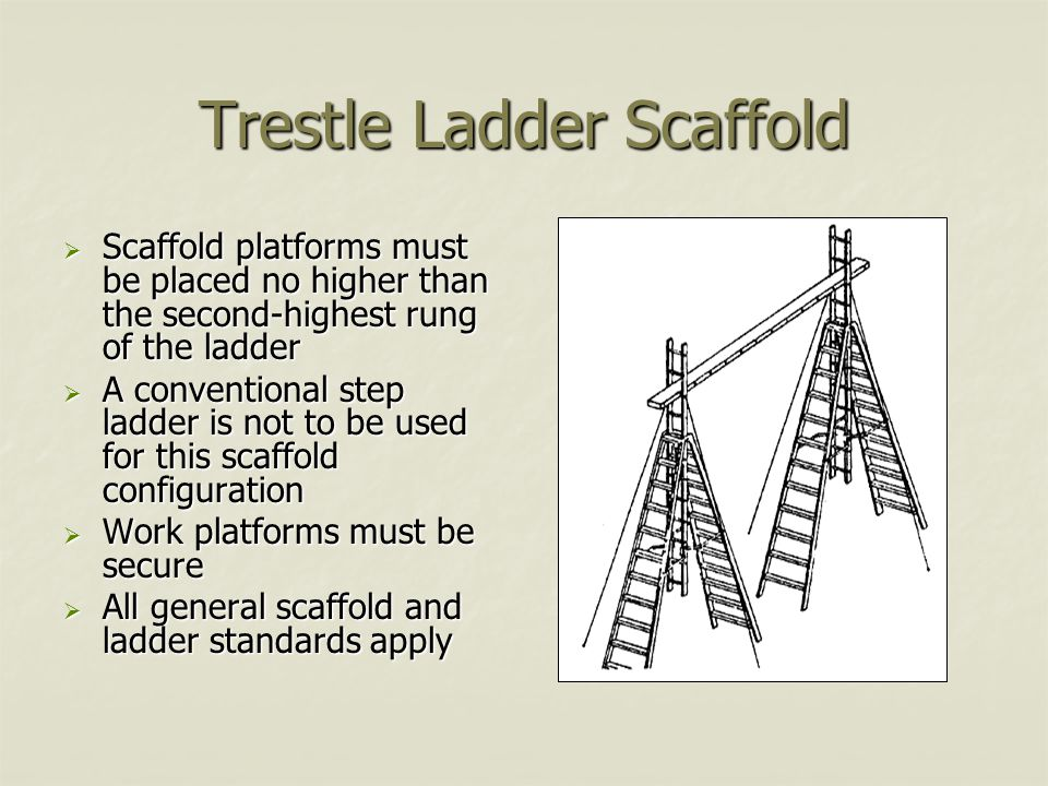 Trestle Ladder Scaffold