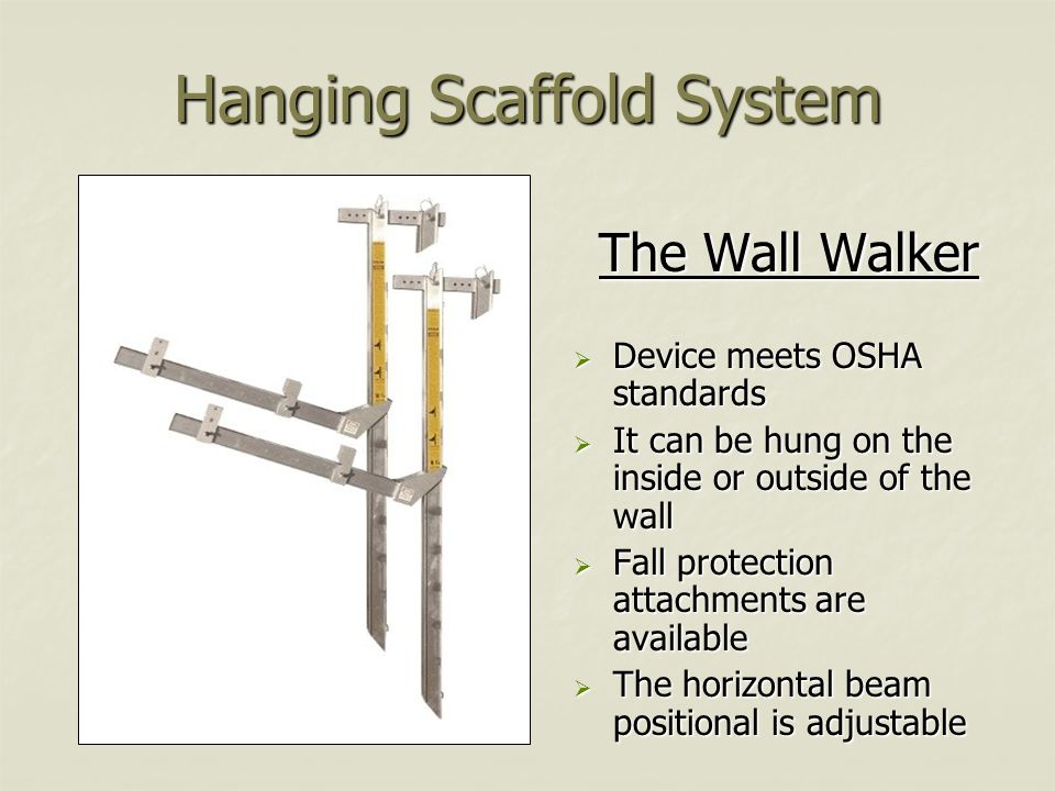 Hanging Scaffold System