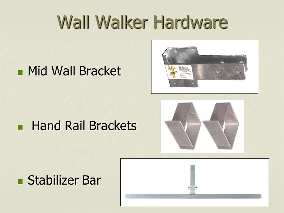 Wall Walker Hardware Mid Wall Bracket Hand Rail Brackets