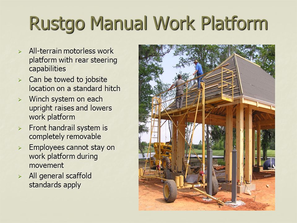 Rustgo Manual Work Platform