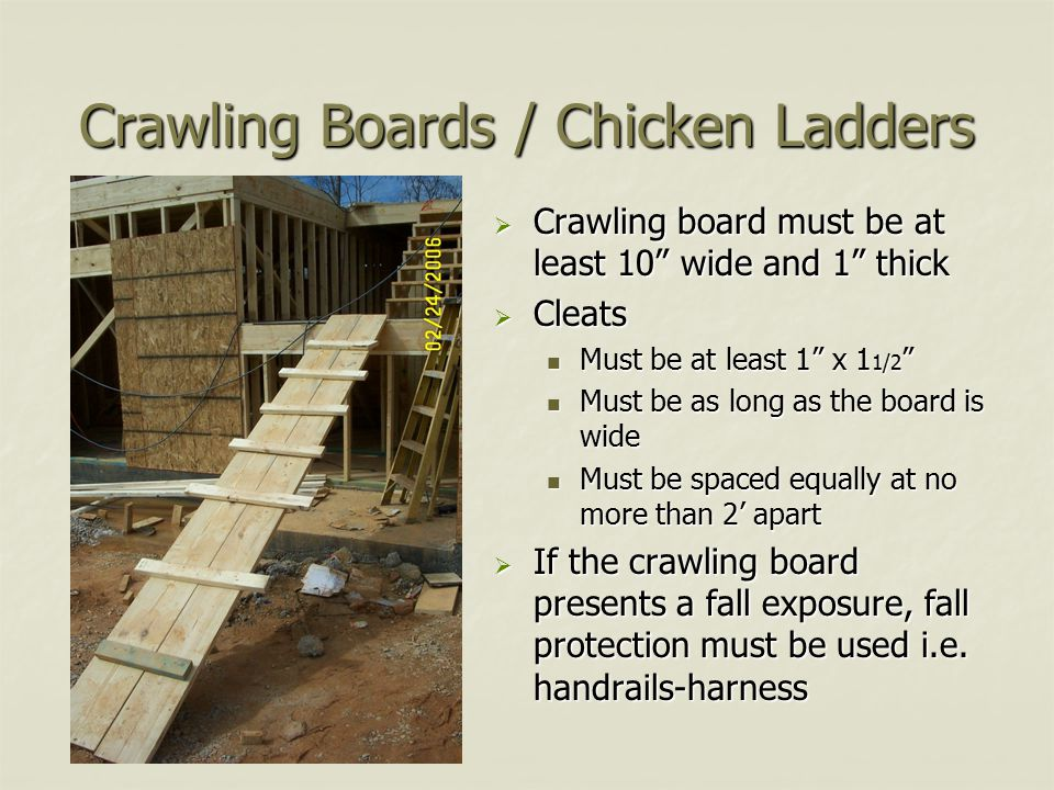 Crawling Boards / Chicken Ladders