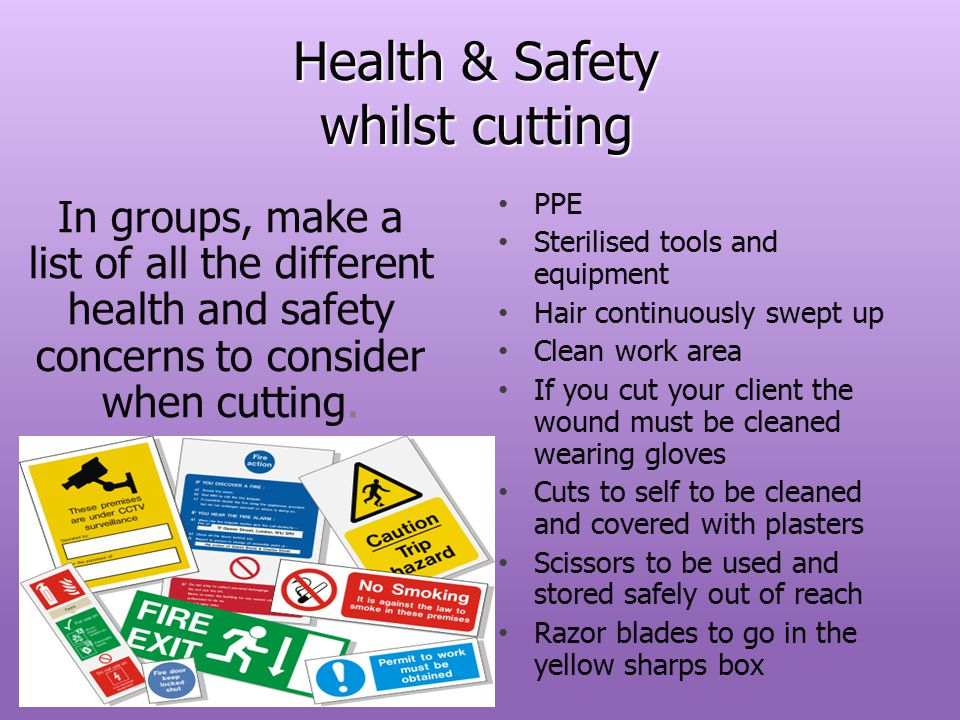 Health & Safety whilst cutting