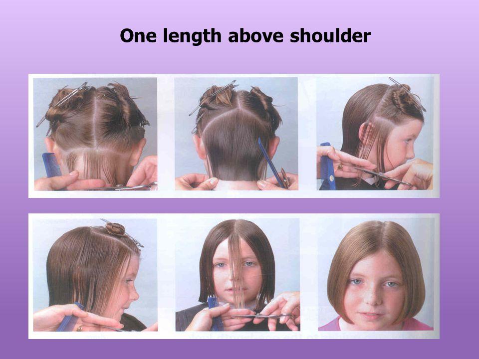 One length above shoulder