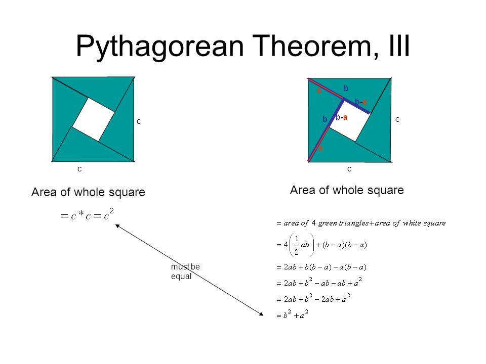 Pythagorean Theorem, III