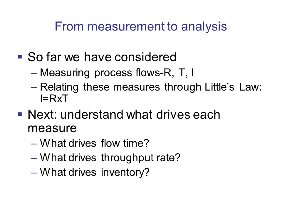 From measurement to analysis