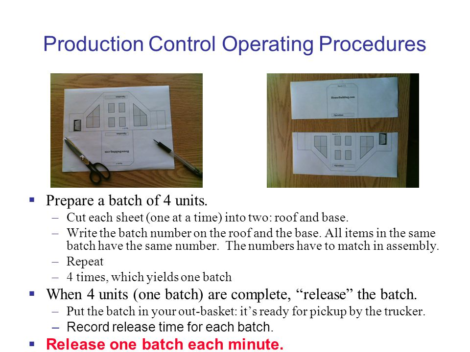 Production Control Operating Procedures