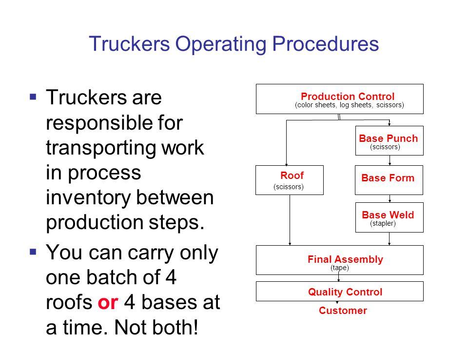 Truckers Operating Procedures