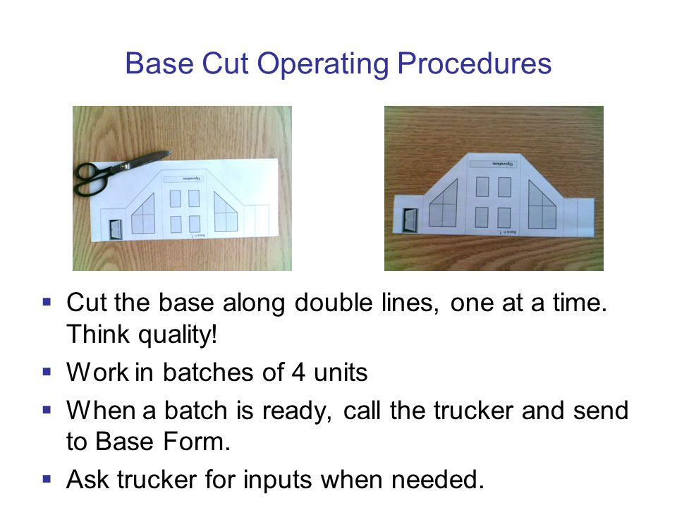 Base Cut Operating Procedures