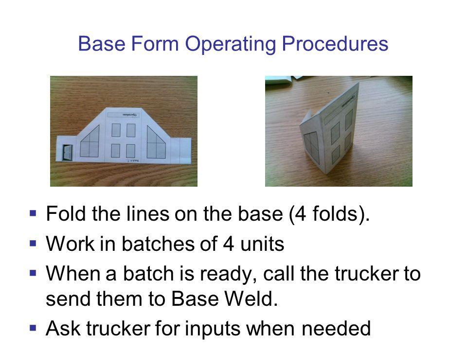 Base Form Operating Procedures