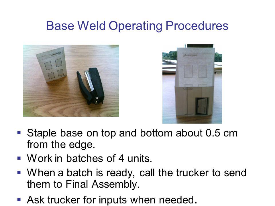 Base Weld Operating Procedures