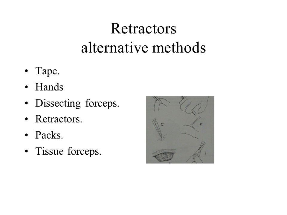 Retractors alternative methods