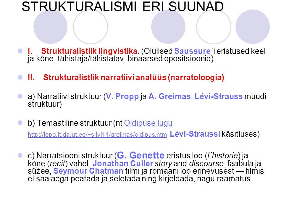 STRUKTURALISMI ERI SUUNAD