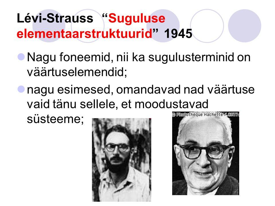 Lévi-Strauss Suguluse elementaarstruktuurid 1945