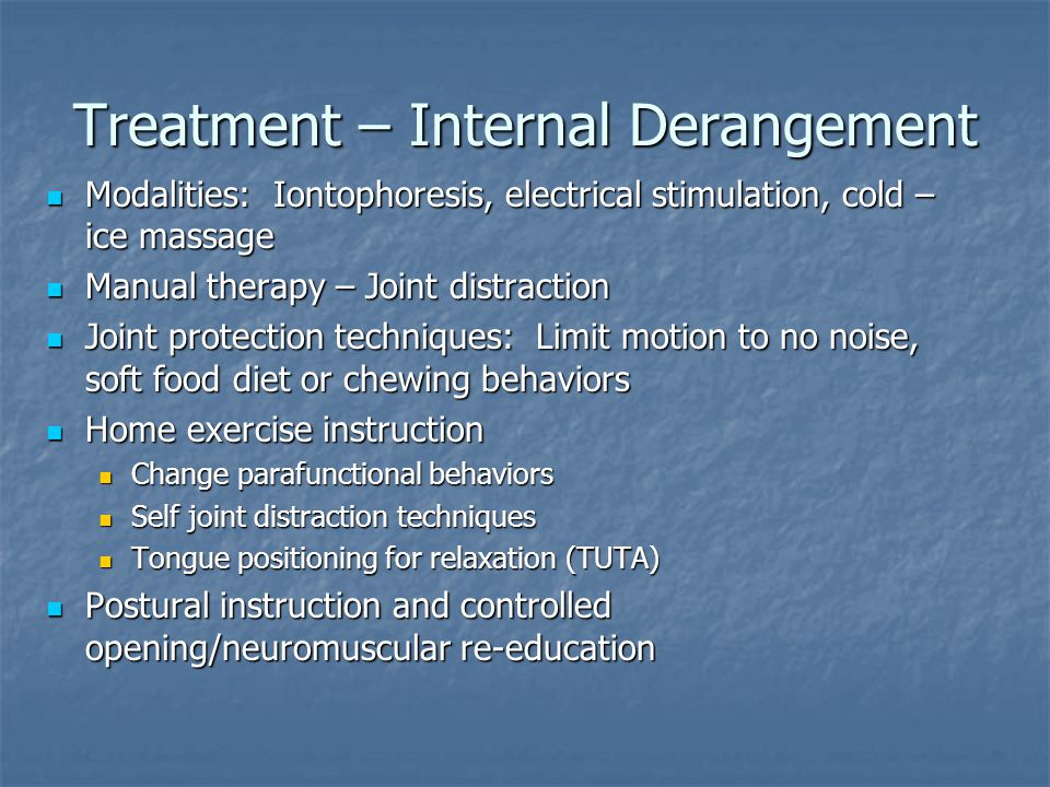 Treatment – Internal Derangement
