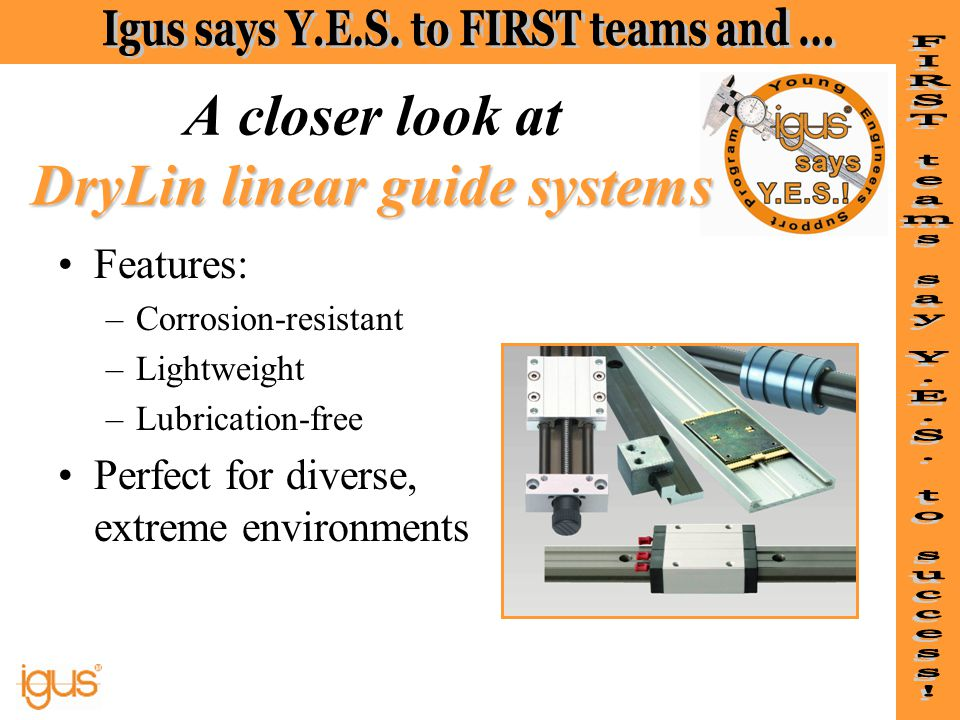 A closer look at DryLin linear guide systems