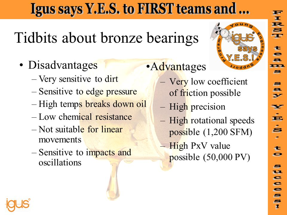 Tidbits about bronze bearings