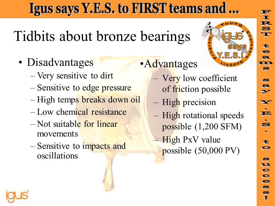 Tidbits about bronze bearings