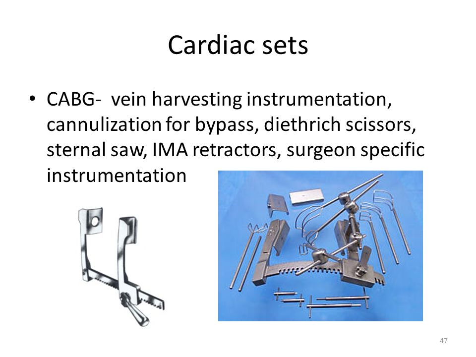 Cardiac sets