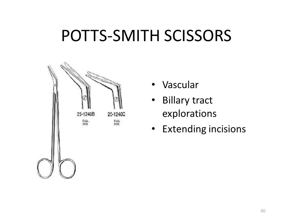 POTTS-SMITH SCISSORS Vascular Billary tract explorations