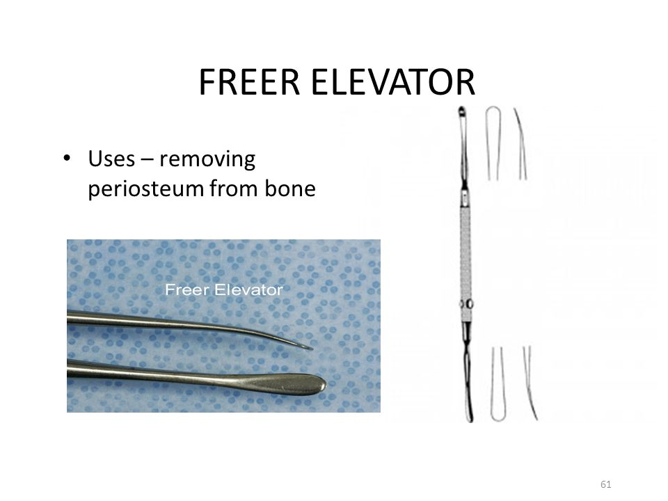 FREER ELEVATOR Uses – removing periosteum from bone