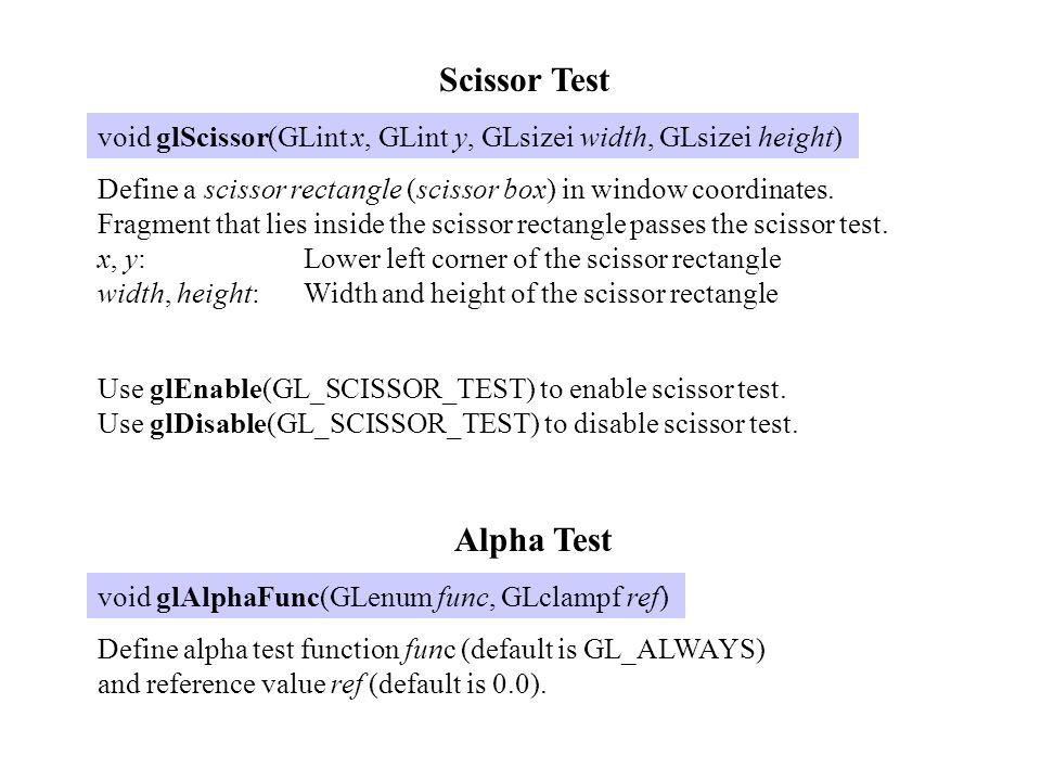 Scissor Test Alpha Test