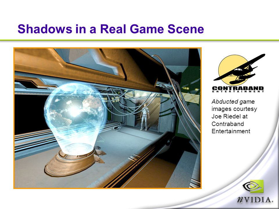 Shadows in a Real Game Scene
