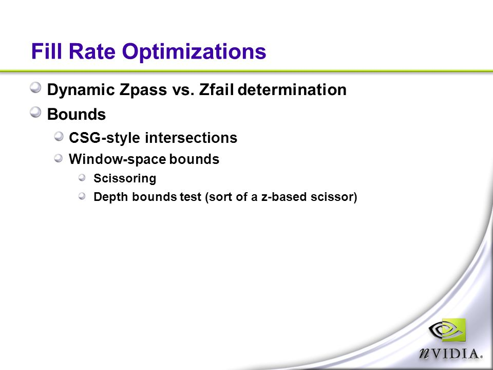 Fill Rate Optimizations