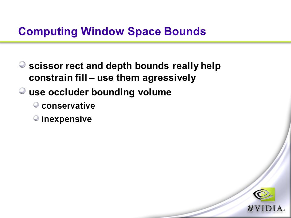Computing Window Space Bounds