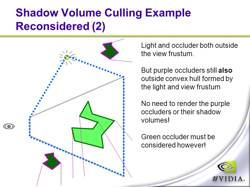 Shadow Volume Culling Example Reconsidered (2)