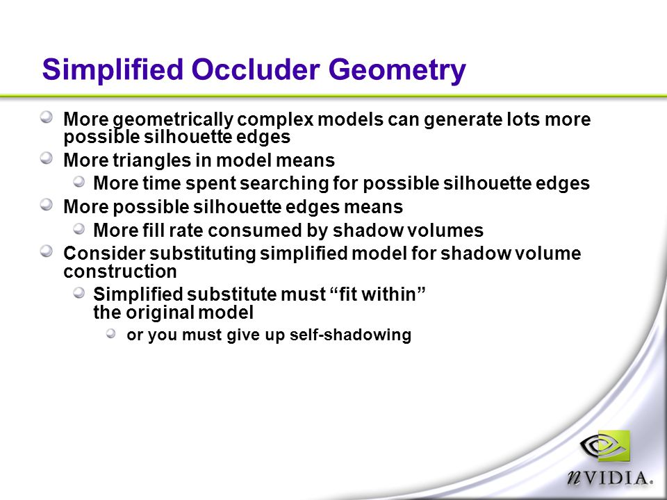 Simplified Occluder Geometry