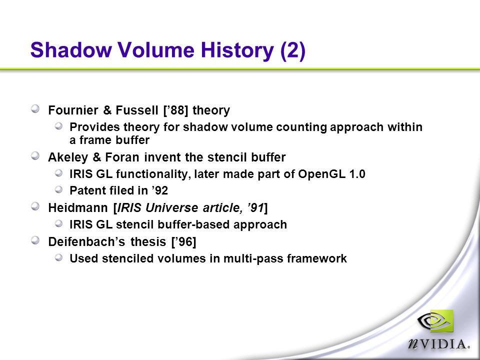 Shadow Volume History (2)