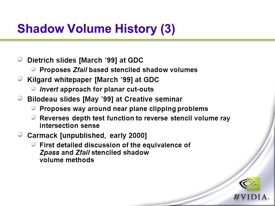 Shadow Volume History (3)