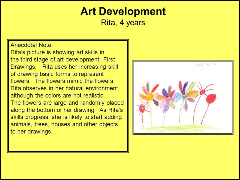 Art Development Rita, 4 years Anecdotal Note: