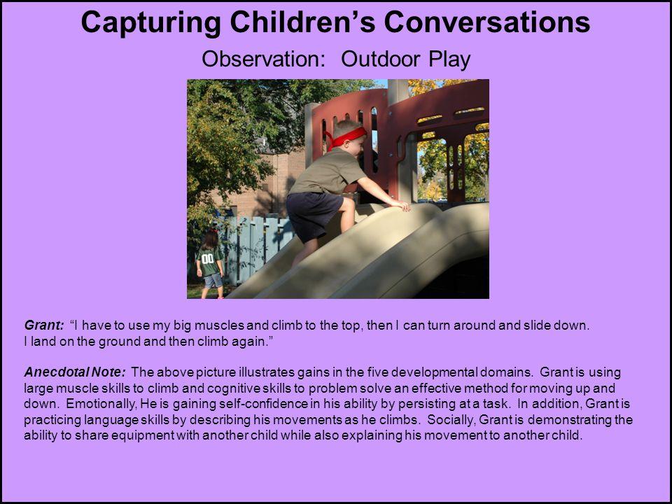 Capturing Children's Conversations