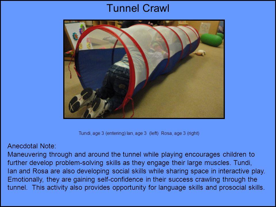 Tunnel Crawl Anecdotal Note: