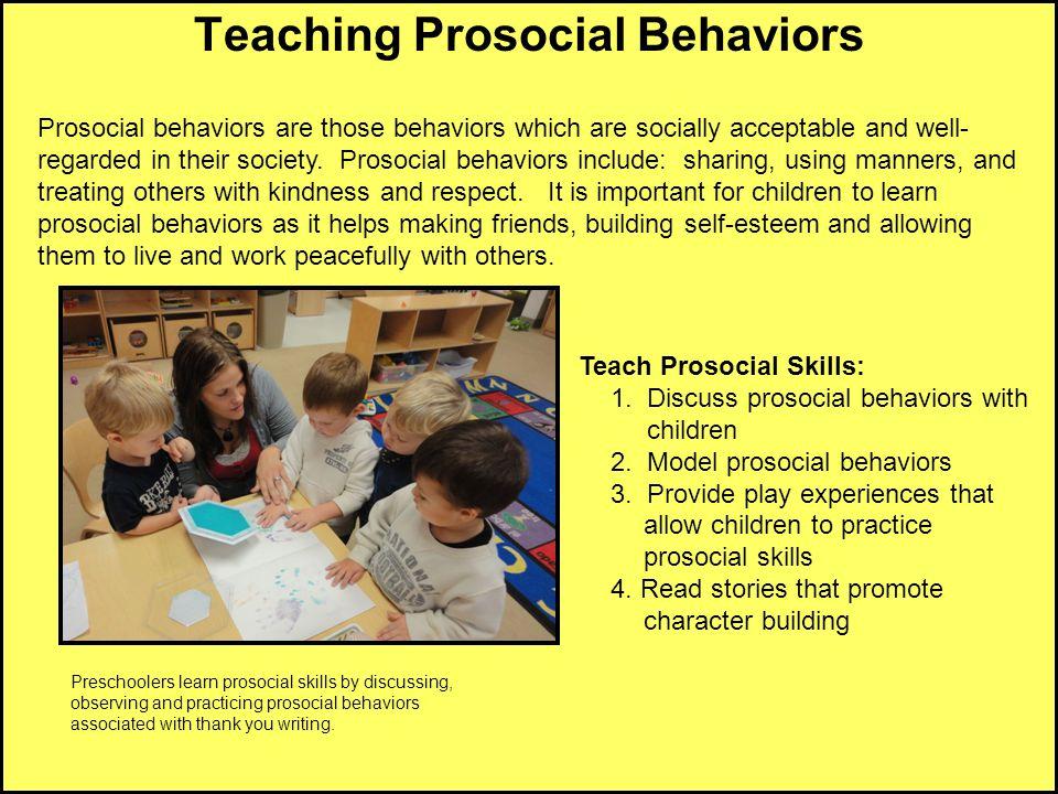 Teaching Prosocial Behaviors
