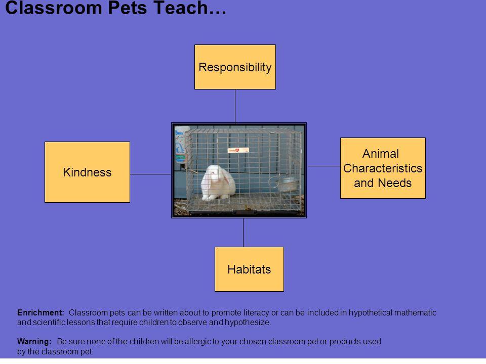 Classroom Pets Teach… Responsibility Animal Characteristics Kindness