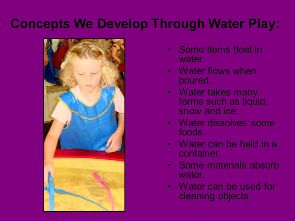 Concepts We Develop Through Water Play: